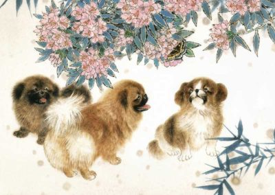 chinese paiting dogs