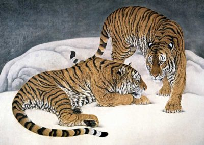 chinese paiting tigers